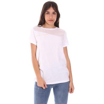 textil Dam T-shirts Ea7 Emporio Armani 3KTT34 TJ4PZ Vit
