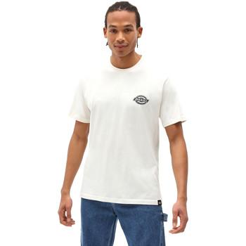 textil Herr T-shirts Dickies DK0A4XENECR1 Vit