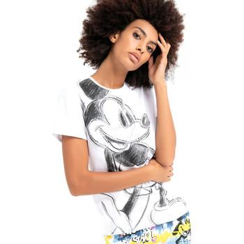 textil Dam T-shirts Fracomina FD21ST3028J401N5 Vit