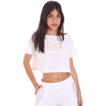textil Dam T-shirts Ea7 Emporio Armani 3KTT03 TJ28Z Vit