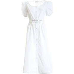 textil Dam Långklänningar Fracomina F321SD3005W40301 Vit