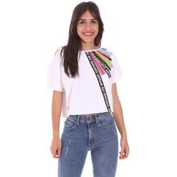 textil Dam T-shirts Ea7 Emporio Armani 3KTT40 TJ39Z Vit