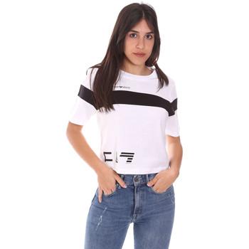 textil Dam T-shirts Ea7 Emporio Armani 3KTT05 TJ9ZZ Vit