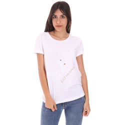 textil Dam T-shirts Ea7 Emporio Armani 3KTT28 TJ12Z Vit