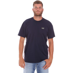 textil Herr T-shirts Ea7 Emporio Armani 3KPT13 PJ02Z Blå