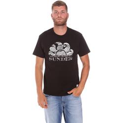 textil Herr T-shirts Sundek M027TEJ78ZT Svart