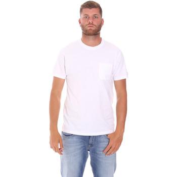 textil Herr T-shirts Sundek M050TEJ9300 Vit