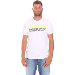 textil Herr T-shirts Sundek M058TEJ7800 Vit