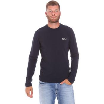 textil Herr Långärmade T-shirts Ea7 Emporio Armani 8NPT55 PJM5Z Blå