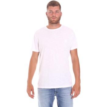 textil Herr T-shirts Lumberjack CM60343 021EU Vit