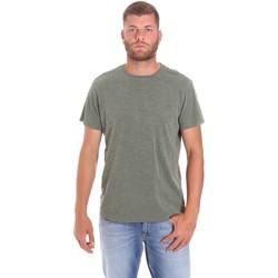 textil Herr T-shirts Lumberjack CM60343 021EU Grön