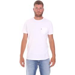 textil Herr T-shirts Lumberjack CM60343 022EU Vit