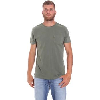 textil Herr T-shirts Lumberjack CM60343 022EU Grön