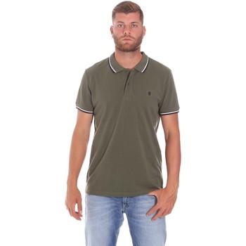 textil Herr Kortärmade pikétröjor Lumberjack CM45940 016EU Grön