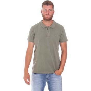 textil Herr Kortärmade pikétröjor Lumberjack CM45940 017EU Grön