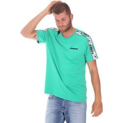 textil Herr T-shirts Diadora 502176085 Grön