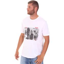 textil Herr T-shirts Diadora 102175861 Vit