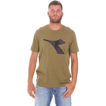 textil Herr T-shirts Diadora 102175852 Grön