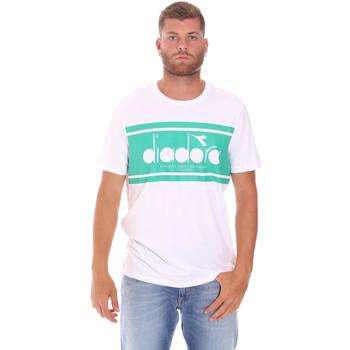textil Herr T-shirts Diadora 502176632 Vit