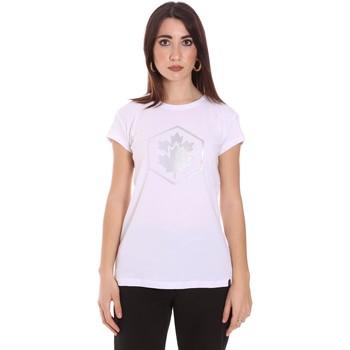 textil Dam T-shirts Lumberjack CW60343 015EU Vit