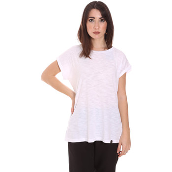 textil Dam T-shirts Lumberjack CW60343 011EU Vit