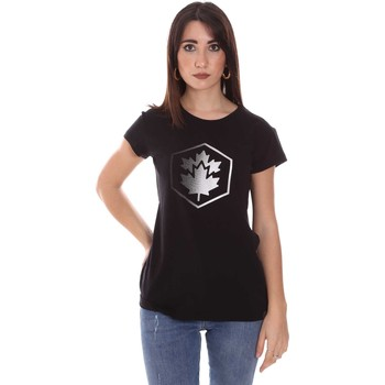 textil Dam T-shirts Lumberjack CW60343 015EU Svart