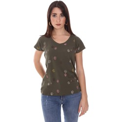 textil Dam T-shirts Lumberjack CW60343 013EU Grön