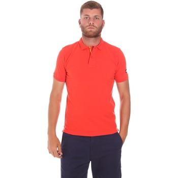 textil Herr Kortärmade pikétröjor Sundek M791PLJ6500 Röd