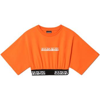 textil Dam T-shirts Napapijri NP0A4FHH Orange