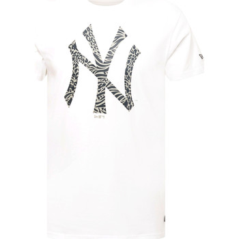 textil Herr T-shirts New-Era 12369838 Vit