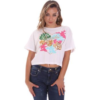 textil Dam T-shirts Gaudi 111BD64041 Vit