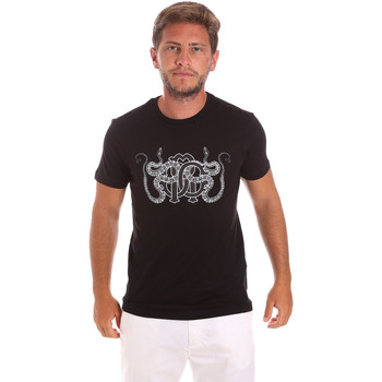 textil Herr T-shirts Roberto Cavalli HST66B Svart