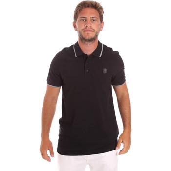 textil Herr Kortärmade pikétröjor Roberto Cavalli FST697 Svart
