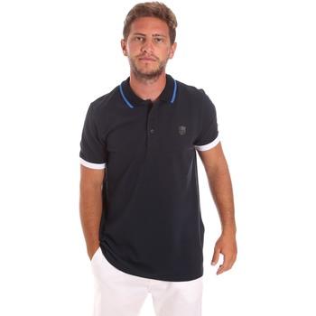 textil Herr Kortärmade pikétröjor Roberto Cavalli FST692 Blå
