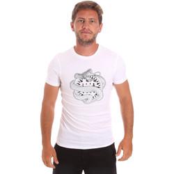 textil Herr T-shirts Roberto Cavalli HST64B Vit
