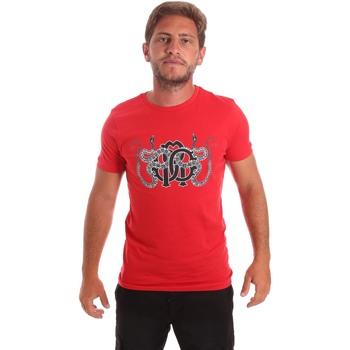 textil Herr T-shirts Roberto Cavalli HST66B Röd