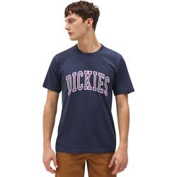 textil Herr T-shirts Dickies DK0A4X9FNV01 Blå
