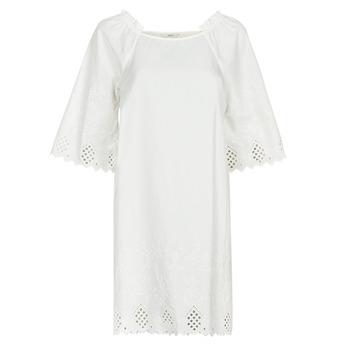 textil Dam Korta klänningar Only ONLLILLO Vit