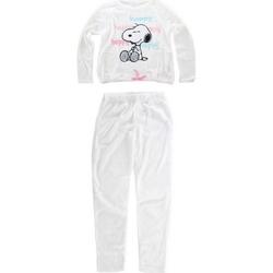 textil Dam Pyjamas/nattlinne Snoopy HS3644 WHITE Blanco