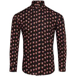 textil Herr Långärmade skjortor Christmas Shop CS001 Ren svart