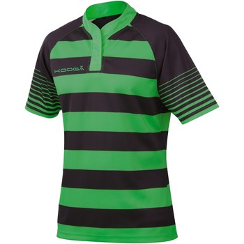 textil Pojkar T-shirts Kooga K106B Svart / Smaragdgrön