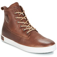 Skor Herr Höga sneakers Blackstone INCH WORKER ON FOXING FUR Brun
