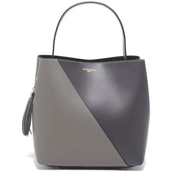 Väskor Dam Handväskor med kort rem Victor & Hugo TYRA GRIS CLAIR / GRIS FONCE