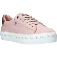 Skor Dam Sneakers Wrangler WL01645A Rosa