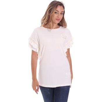 textil Dam T-shirts Fracomina FS21ST3012J400N5 Vit