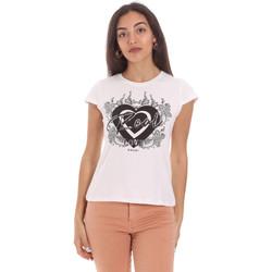 textil Dam T-shirts Gaudi 111FD64017 Vit