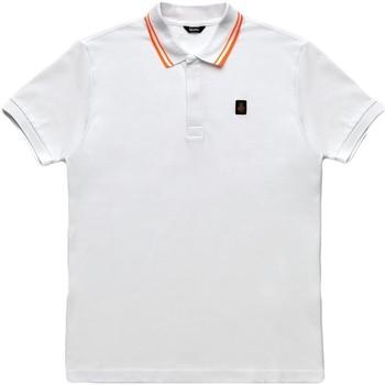 textil Herr Kortärmade pikétröjor Refrigiwear RM0T24000PX9032 Vit