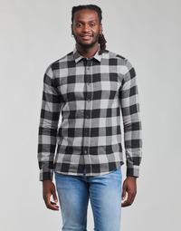 textil Herr Långärmade skjortor Only & Sons  ONSGUDMUND Svart / Vit