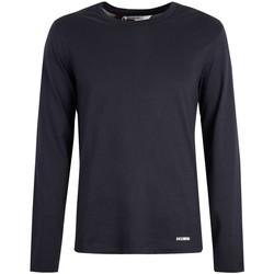 textil Herr Långärmade T-shirts Bikkembergs  Blå