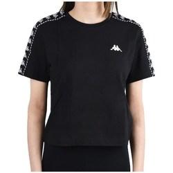 textil Dam T-shirts Kappa Inula Tshirt Svarta